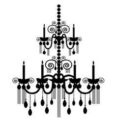 Chandelier silhouettes vector image