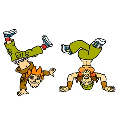 Couple breakdancers vector image