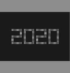 2020 silver numbers vector