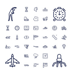 37 speed icons vector