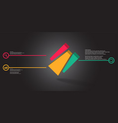 3d infographic template with embossed cube vector