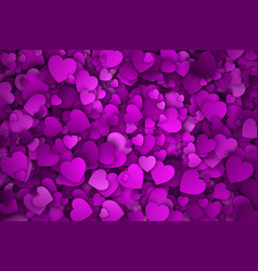 Abstract 3d hearts background vector