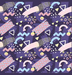 Abstract memphis style seamless pattern vector