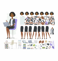 african businesswoman - cartoon people vector image