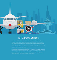 Air cargo services and freight flyer design vector
