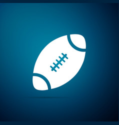 american football ball icon on blue background vector image