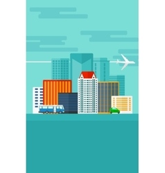 Background of modern city vector image