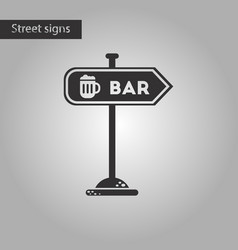 Black and white style icon sign of bar vector
