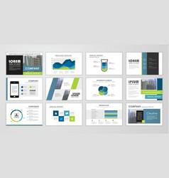brochure template design set vector image
