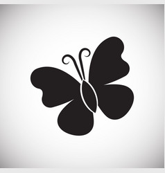 Butterfly on white backgorund vector