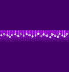 christmas banner with hanging snowflakes vector image