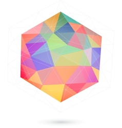 Colorful icosahedron for graphic design vector