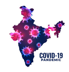 Coronavirus covid19 outbreak in country india vector