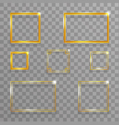 creative golden art frame geometric gold abstract vector image