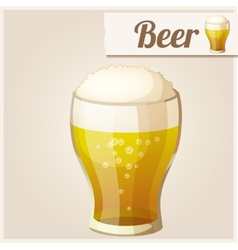 Detailed Icon Glass of beer vector image vector image