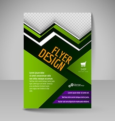 Editable A4 poster for design presentation vector