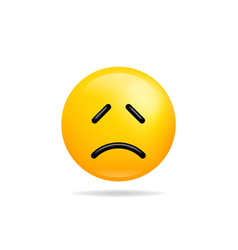 Emoji smile icon symbol sad face yellow cartoon vector