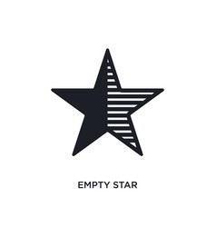 Empty star isolated icon simple element from vector