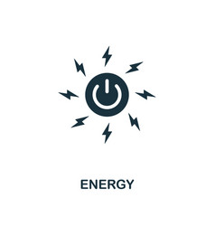 Energy icon creative element design from vector