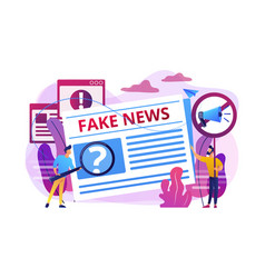 Fake news concept vector