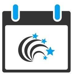 Festive Fireworks Calendar Day Toolbar Icon vector