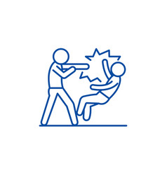Fight line icon concept fight flat symbol vector