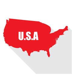 flag of usa in a flat vector image