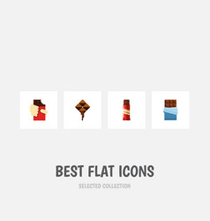 Flat icon sweet set of shaped box bitter vector