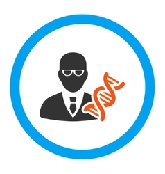 Genetic Engineer Rounded Icon vector