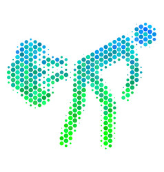 Halftone blue-green fart gases icon vector