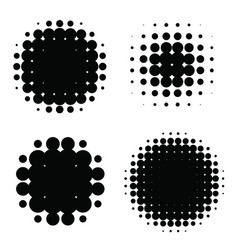 halftone patterns set halftone dots vector image