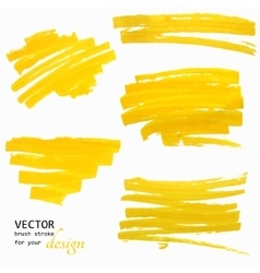 Hand-drawing orange textures brush strokes vector