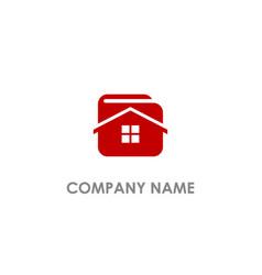 Home realty wallet logo vector
