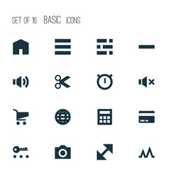 interface icons set collection of minus vector image