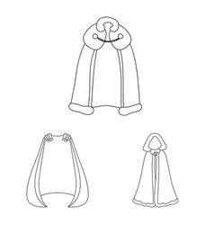 Isolated object robe and garment sign vector