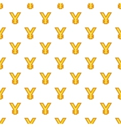 Japan yen currency symbol pattern cartoon style vector