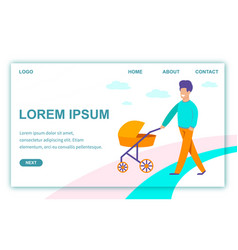 Landing page for date agency creating families vector