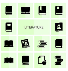 literature icons vector image