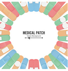 medical patch first aid band plaster strip vector image