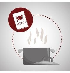 Menu design food icon restaurant concept vector