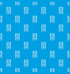mini mp3 portable player pattern seamless blue vector image
