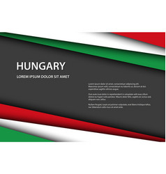modern overlayed sheets paper hungarian flag vector image