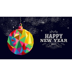 new year 2015 bauble ornament card vector image