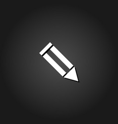 pencil icon flat vector image