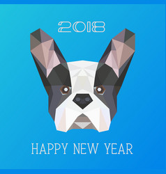 Polygonal head of french bulldog vector