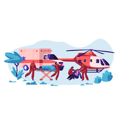 Professional rescue team care your life vector