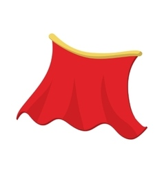 Red cape icon cartoon style vector