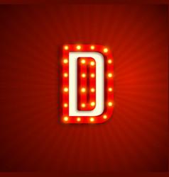 Retro style letter d vector
