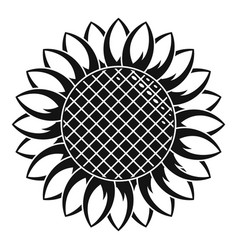 Round sunflower icon simple style vector