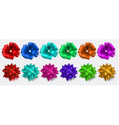 set multicolored bows vector image